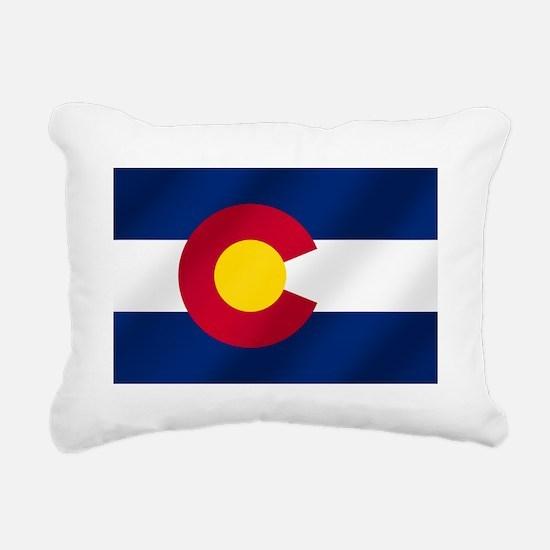 Flag of Colorado Rectangular Canvas Pillow