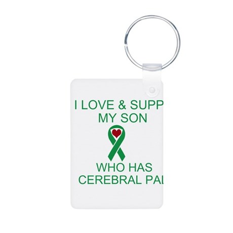 Cerebral Palsy-Love Support S Aluminum Photo Keych