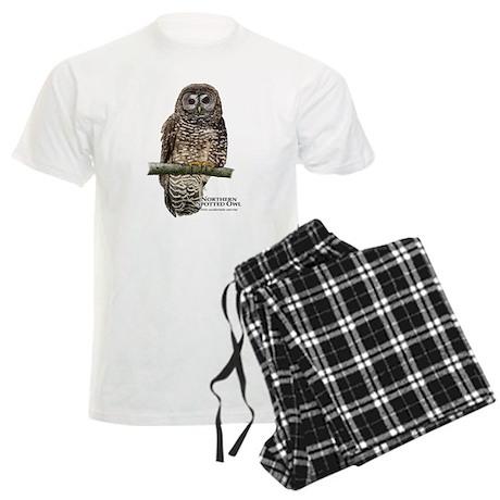 Northern Spotted Owl Men's Light Pajamas