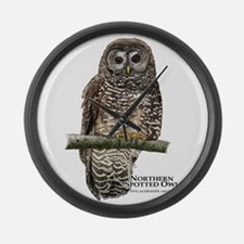 Northern Spotted Owl Large Wall Clock