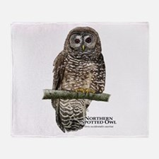 Northern Spotted Owl Throw Blanket