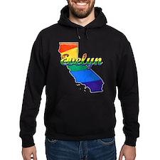 Evelyn, California. Gay Pride Hoodie