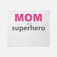 Superhero Mom Throw Blanket