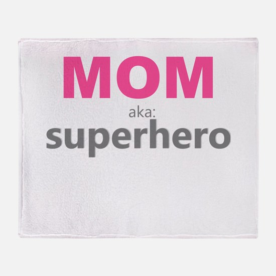 Superhero Mom Throw Blanket