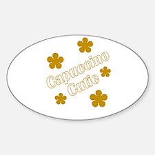Cappuccino Cutie/ Biracial Pride Oval Decal