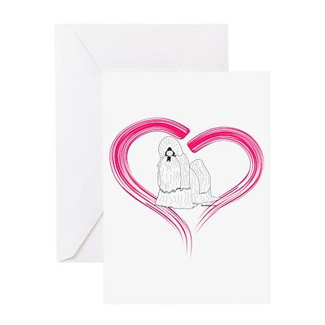 Heart My Shih Tzu Greeting Card