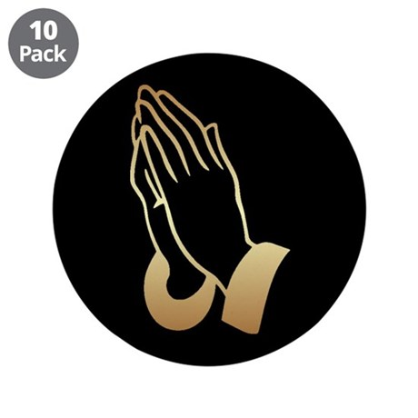 "Praying Hands 3.5"" Button (10 pack)"