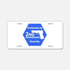 Second Amendment Aluminum License Plate
