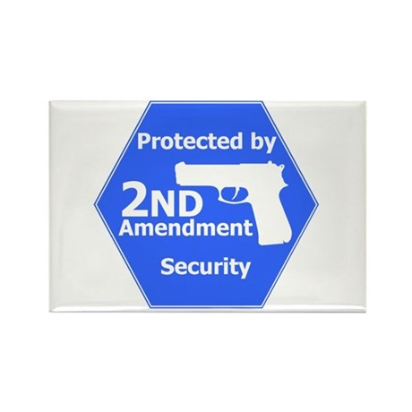 Second Amendment Rectangle Magnet