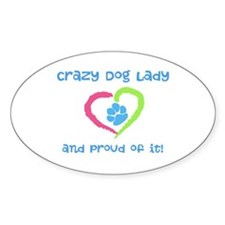 Crazy Dog Lady Decal