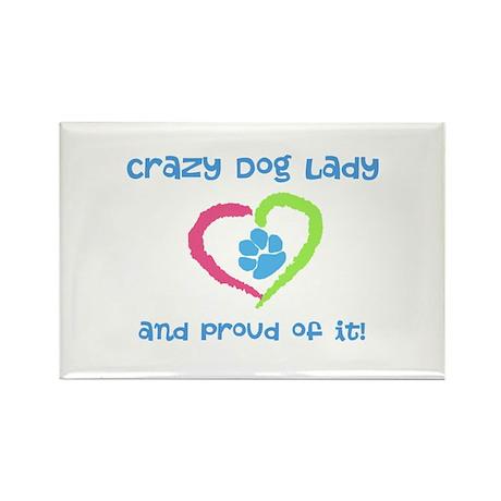 Crazy Dog Lady Rectangle Magnet (100 pack)