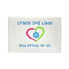 Crazy Dog Lady Rectangle Magnet (10 pack)