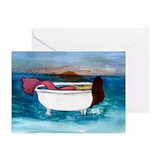 Bath Tub Mermaid Greeting Cards (Pk of 10)