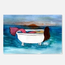 Bath Tub Mermaid Postcards (Package of 8)