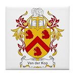 Van der Kop Coat of Arms Tile Coaster