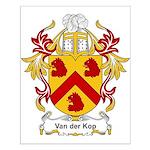 Van der Kop Coat of Arms Small Poster