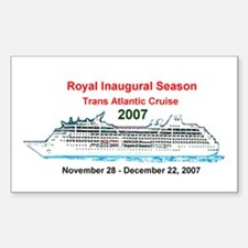 Royal Inaugural TA 2007 Rectangle Decal