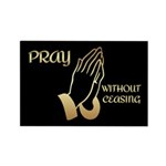 Praying Hands Rectangle Magnet (100 pack)