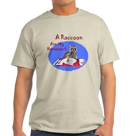 A Raccoon Ate My Homework Light T-Shirt