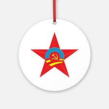 Obama Communist Star Ornament (Round)