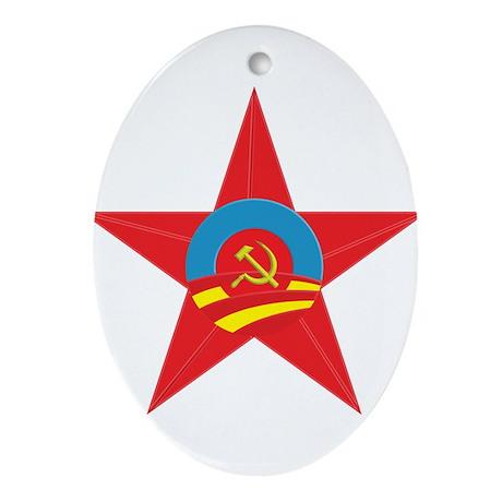 Obama Communist Star Ornament (Oval)