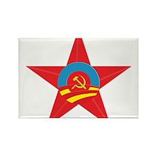 Obama Communist Star Rectangle Magnet