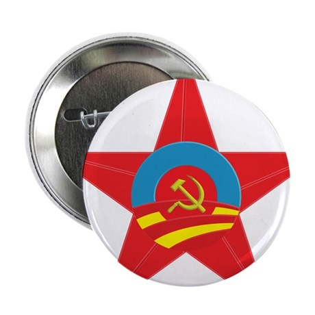 """Obama Communist Star 2.25"""" Button (10 pack)"""