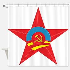 Obama Communist Star Shower Curtain