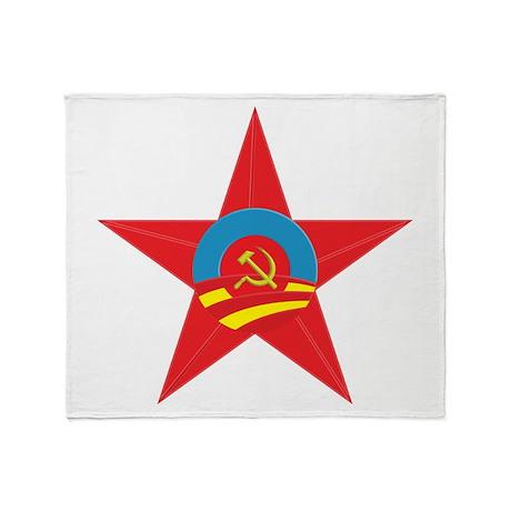 Obama Communist Star Throw Blanket