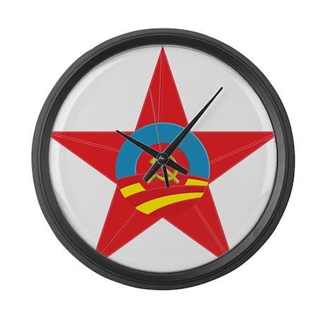 Obama Communist Star Large Wall Clock