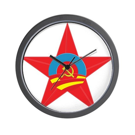 Obama Communist Star Wall Clock
