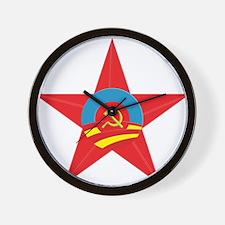 Obama Communist Star Wall Clock