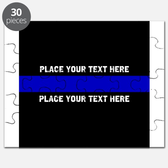 Thin Blue Line Customized Puzzle