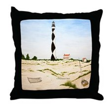 Dunes and Light at Cape Lookout Throw Pillow
