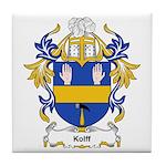 Kolff Coat of Arms, Family Cr Tile Coaster