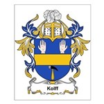 Kolff Coat of Arms, Family Cr Small Poster