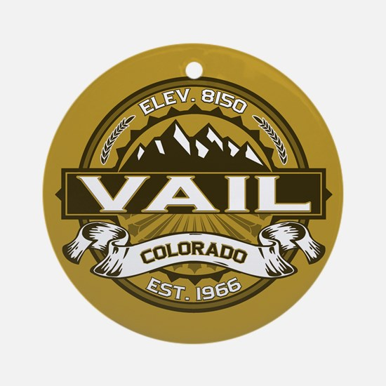 Vail Tan Ornament (Round)