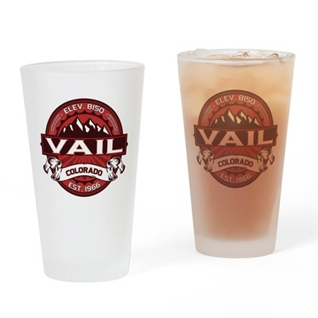 Vail Red Drinking Glass