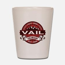 Vail Red Shot Glass