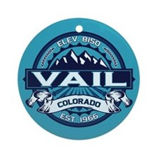 Vail Ice Ornament (Round)