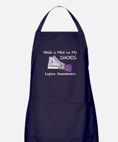 Walk a Mile in My Shoes Lupus Apron (dark)