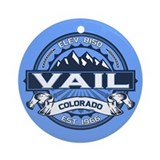 Vail colorado Round Ornaments
