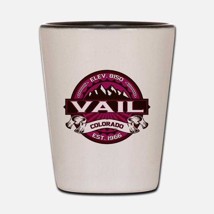 Vail Raspberry Shot Glass