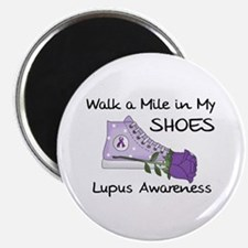 """Walk a Mile in My Shoes Lupus 2.25"""" Magnet (1"""