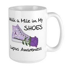 Walk a Mile in My Shoes Lupus Mug