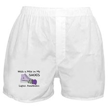 Walk a Mile in My Shoes Lupus Boxer Shorts