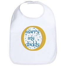"""Marry my Daddy"" Baby Boy Bib"
