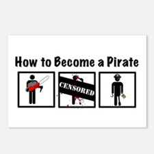How to Become a Pirate Postcards (Package of 8)