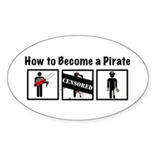 How to Become a Pirate Decal