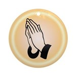 Praying Hands Ornament (Round)